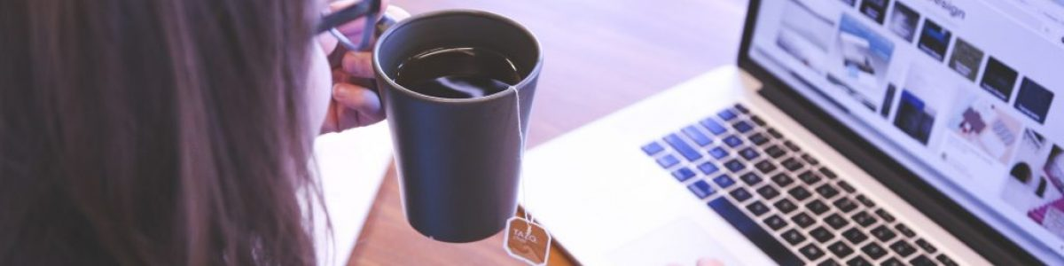 Laptop Tea Photo